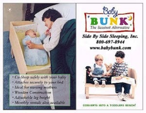 Co-Sleep Safely and Comfortably With Baby Bunk