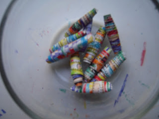How to Make Rolled Paper Beads- Fun Kids Craft