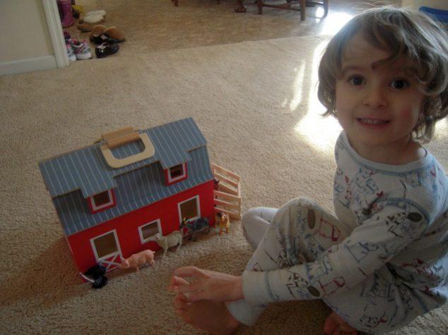 Melissa And Doug Fold Go Wooden Toy Barn