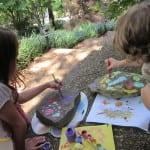 Kids Craft:  Creating Painted Rocks Yard Art
