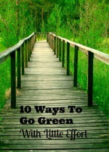 10 Ways To Go Green With Little Effort Required!