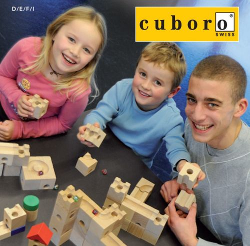 5 Handmade Wooden Toys: #1 cuboro marble run building