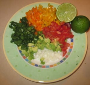 Fish Taco Recipe with Homemade Bell Pepper Avocado Salsa