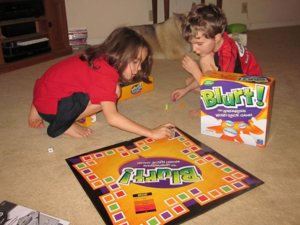 Blurt word board game