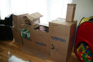 How to Make The Ultimate Cardboard Fort With Your Kids