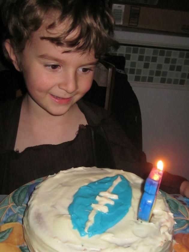 homemade birthday party cake football theme
