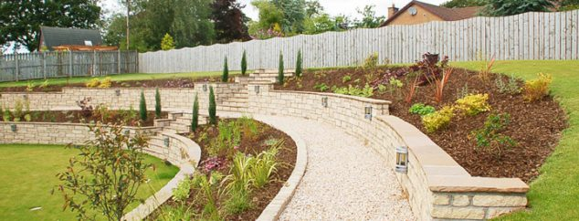Terraced Backyard Slope : Terraced Gardens How to Make the Most of Your Slope