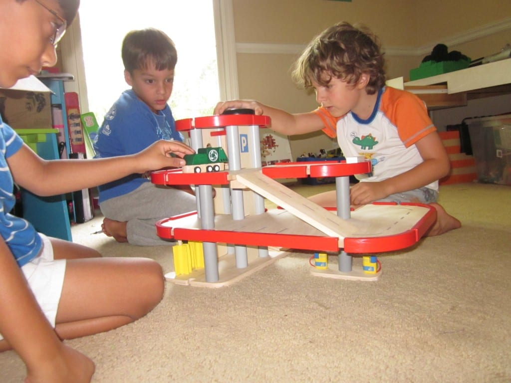 Toy Garages For Boys : Plan toys review of wooden parking garage doll house nursery