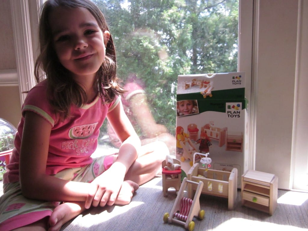 plan toys review of wooden parking garage & doll house nursery
