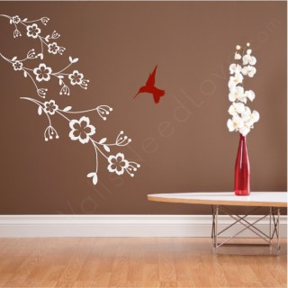 Hummingbird wall Vinyl Decal