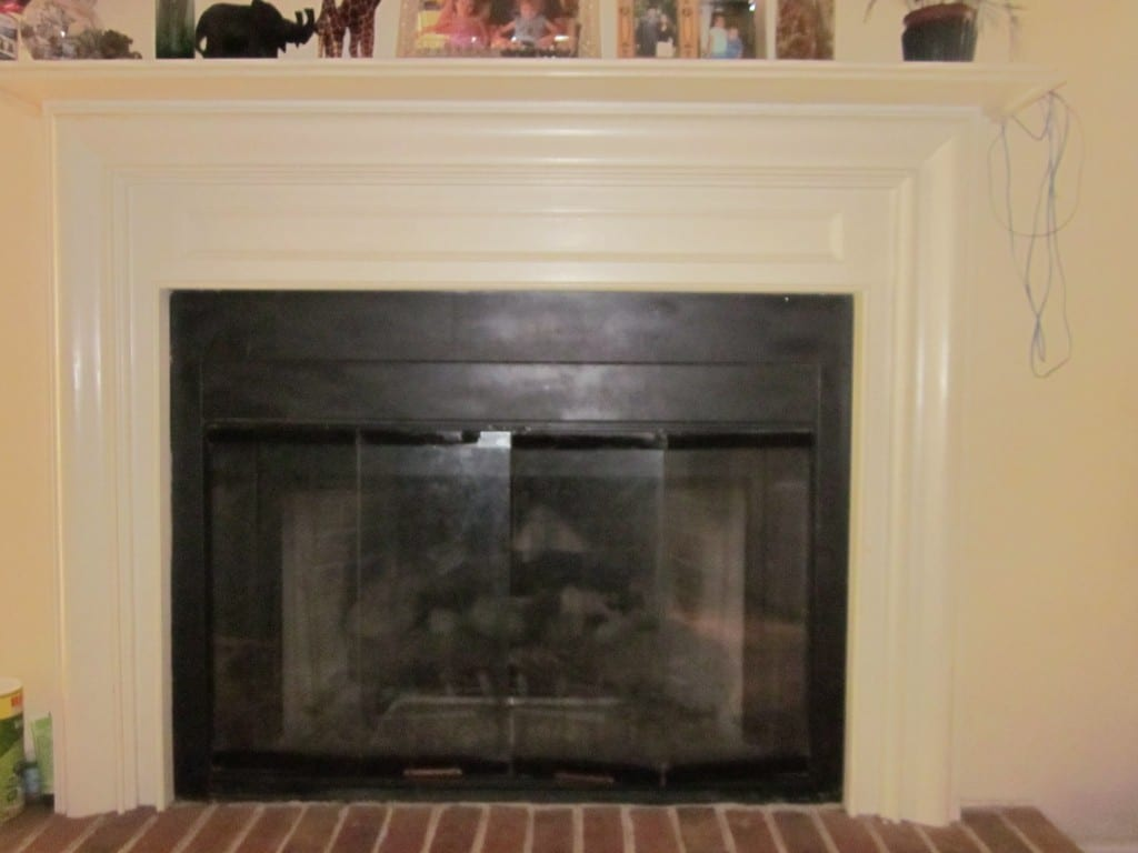 Updating Old Bronze Fireplace Glass Doors