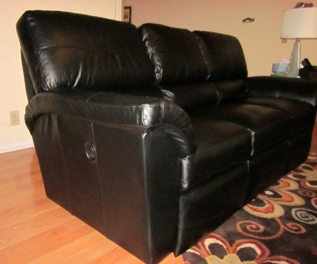 La z Boy Recliners hidden in sofa