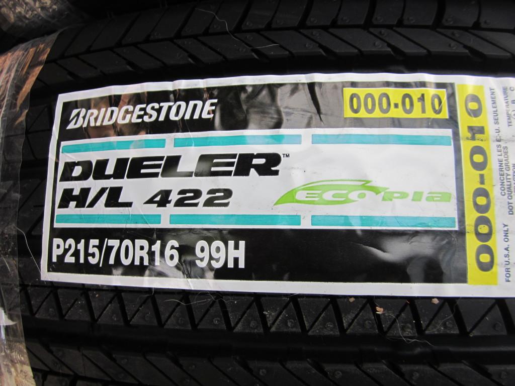 Bridgestone Environmentally Conscious Dueler Ecopia Tires