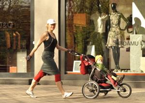 stroller walking