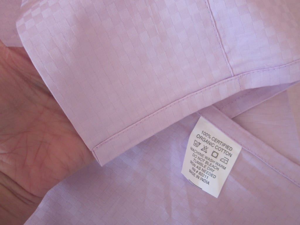 wide hem on organic flat sheet