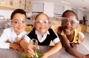 kids with science goggles