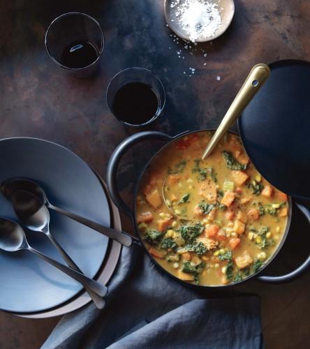Sweet Potato, Corn and Kale Chowder Recipe