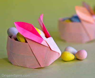 origami bunny / Family Focus Blog