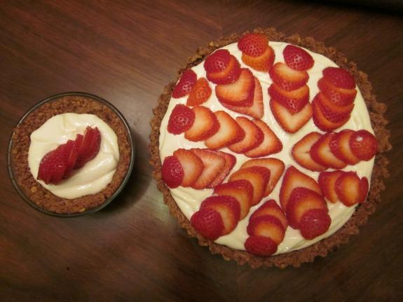 Strawberry Greek Yogurt Icebox Pie and Individual Pie / Family Focus Blog