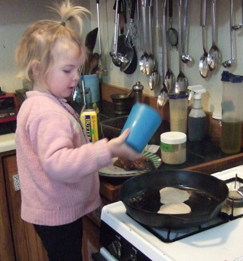 cooking vegan buckwheat pancakes / Family Focus Blog
