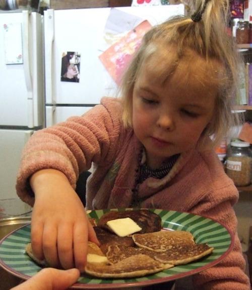 serve vegan buckwheat pancakes / Family Focus Blog