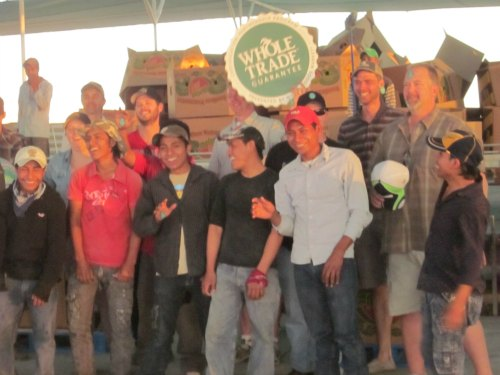 group photo at groupo alta watermelon packing plant