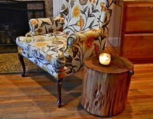 Wood Home Decor Touches-Log End Table / Family Focus Blog