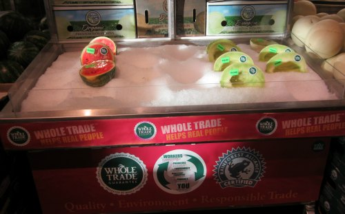 whole trade melons at whole foods