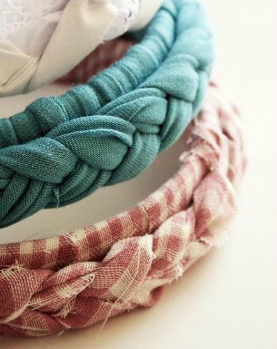 3 upcycle t-shirt crafts- DIY braided headbands