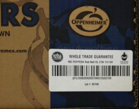 Whole Trade Pepper Label