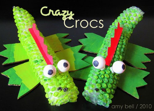 4 Kids Craft Ideas Bubble Wrap Crocs