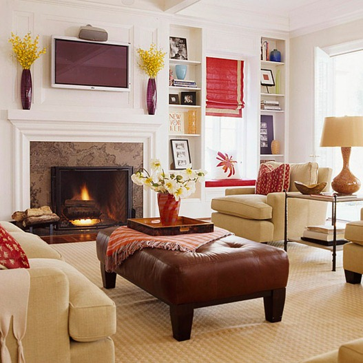 How to arrange an oddly shaped living room for Tv room arrangements