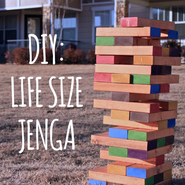 DIY life size jenga