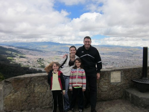 View of Bogota from Monserrate