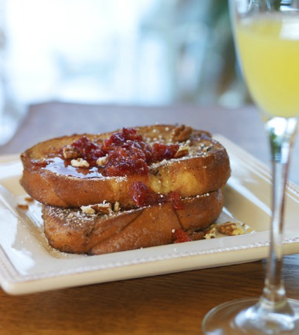 Orange-Pecan Ricotta French Toast