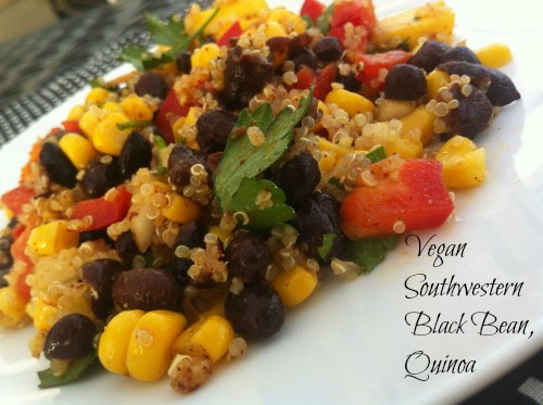 Vegan Southwestern Black Bean Quinoa and Mango Medley - Family Focus ...