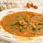 Mushroom Lentil Soup Recipe
