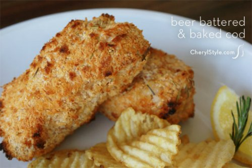 Beer-Battered Baked Cod Recipe