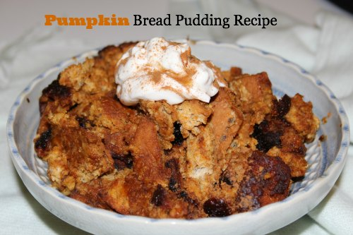 Pumpkin Bread Pudding Recipe - Family Focus Blog
