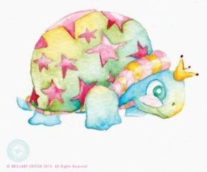Brilliant Critter Original Watercolor Nursery Art Giveaway