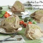 Thanksgiving Craft- Clever Turkey Leg Place Settings