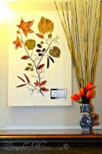 DIY Fall Leaf Art Project