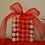 DIY Peppermint Gift Box Decoration
