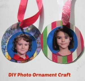 DIY photo ornament christmas craft