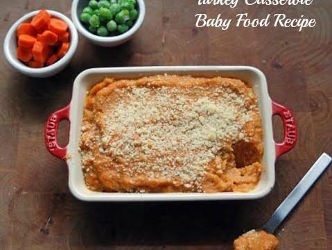 Baby Food Recipe- Turkey Casserole