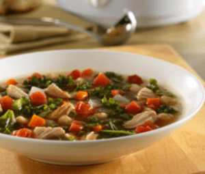 Crockpot Pork Rib Kale Soup