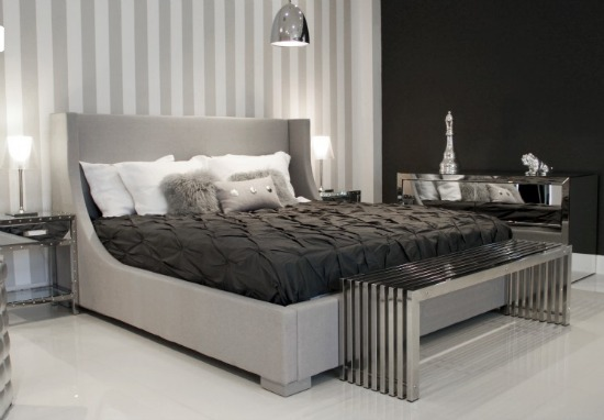 relaxing bedroom from Modani Kanoa Platform Bed