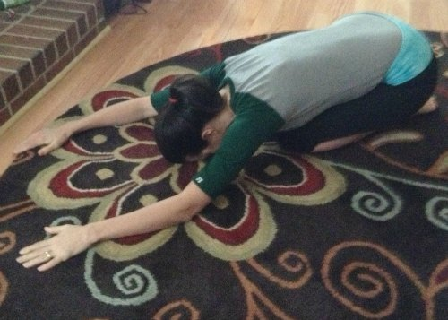 child's pose yoga pose