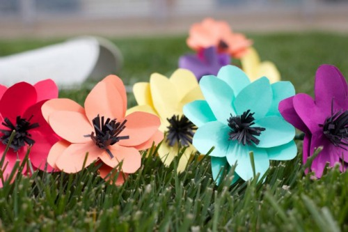 paper flowers for spring