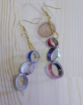 Repurposed Magazine Pages Earrings